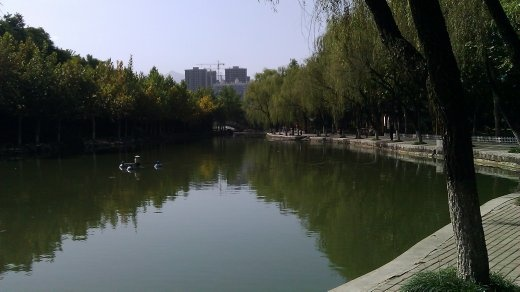 Wei River (?) in People's Park