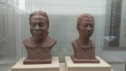 Banpo Village male and female forensic reconstruction