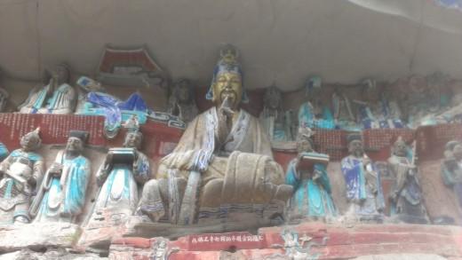 Buddha Teaching at Dazu Grottoes