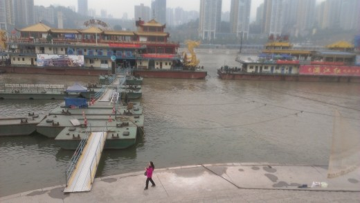 At the confluence of the Yangze and Jialing Rivers, Chongqing, China