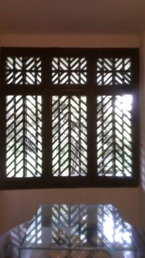 Window at Hongyan Revolutionary Memorical Museum