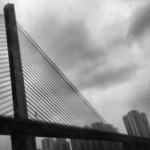 suspension bridge, Chongqing, China
