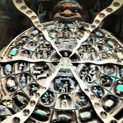 Wheel of Karma at Dazu Grottoes