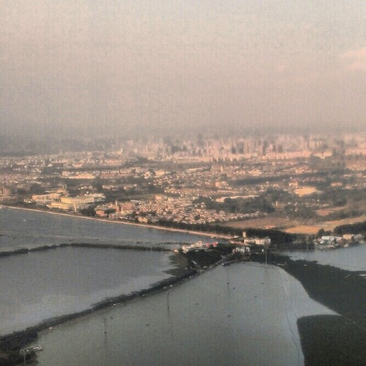 View of Kunming and Erhai Lake from Western Hills