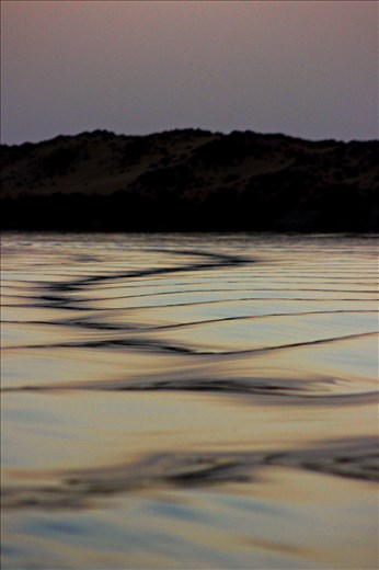 Waves will guide you. -Nasser Lake, Aswan, Egypt