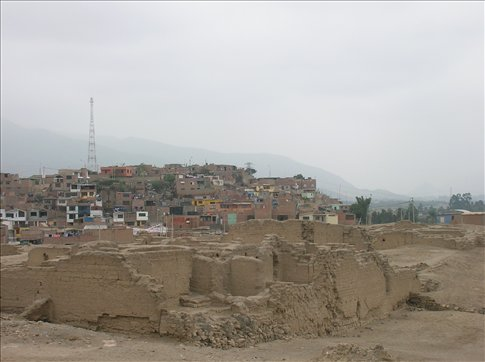Pachacamac with, I think, Lurín in the background