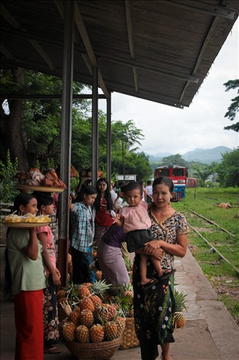 The movement of people and goods in Myanmar.