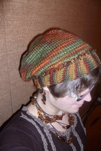 I have a passion for knitting. Here is the first hat I knitted!