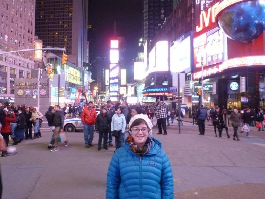 me glowing under all these lights -Time Square-