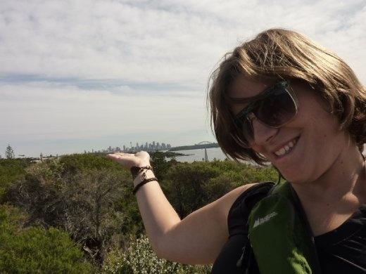 moi et dans ma main...downtown Sydney!!!