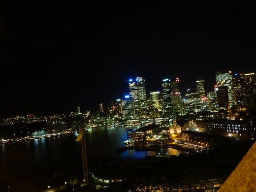 Downtown Sydney...at night!