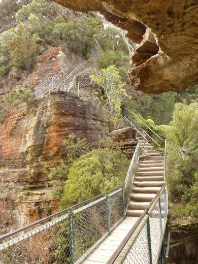 Petite section des 900 marches à descendre pour aller dans le fond de la vallée.....donc on comprendra qu'il a fallu les remonter ces marches!!! ouf!
