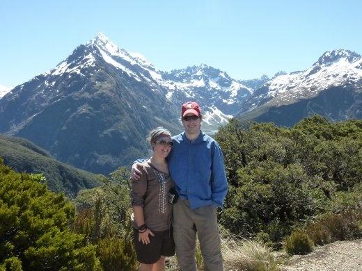 Ted et moi au top de Key Summit...petite randonnee de la journee...la boss nous a dit