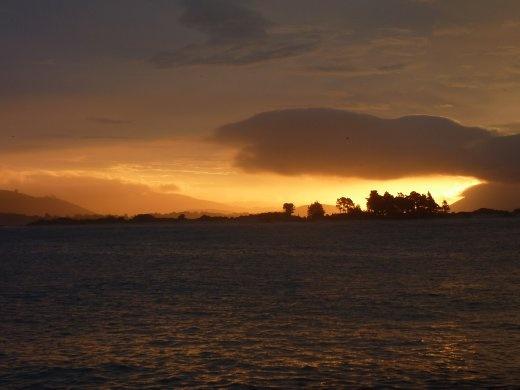 le coucher de soleil...plus a venir
