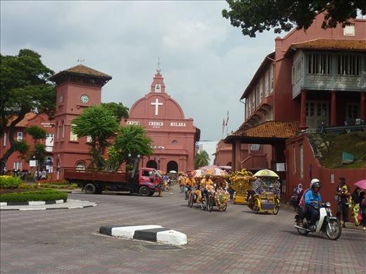 La grosse eglise rouge the Melaka (Christchurch) Vestige du passage des portuguais en  Malaysie.
