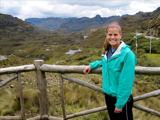 highest point in El Cajas about 13,000 feet above sea level