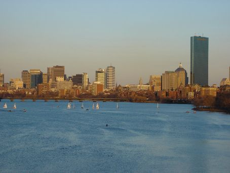 Boston from the BU Bridge over the Charles River