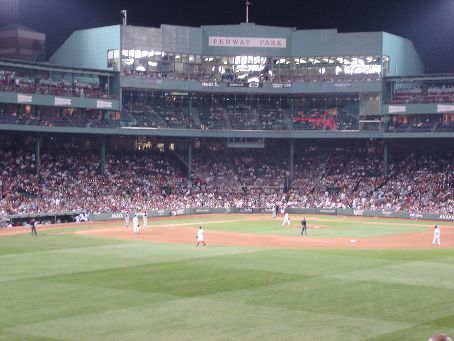 Fenway Park from Center field with the .409 Club