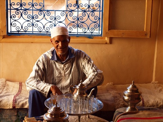Refreshing mint tea served by the head of the family.
