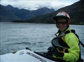 Emma on Matukituki with Mt Aspiring in the background: by emma-o-scott, Views[213]