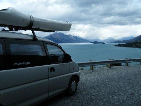 Yabba admiring the views over the Glenarchy sound (Mt Aspiring NP)