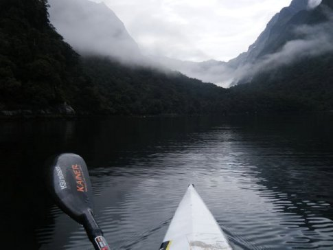 Paddling Milford Sound early morning