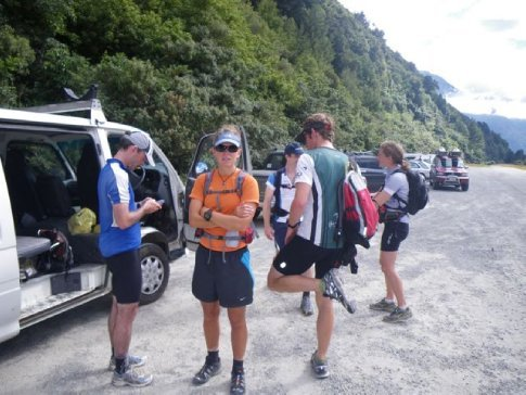 Gearing up for the C2C training run up the Deception Valley
