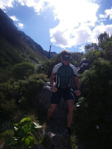 Scott on his way to Goat Pass (the highest point of the 33 km run)