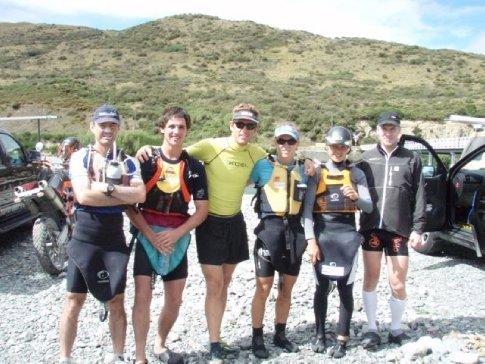 The whole paddle group (Aaron, Pete, Scott, Emma, Elina, Martin)