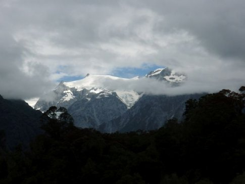 Franz Joseph Glacier, taken from our kayak while paddling