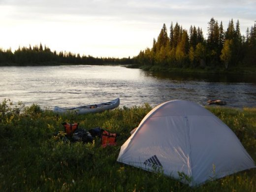 A beautiful evening in the wilderness