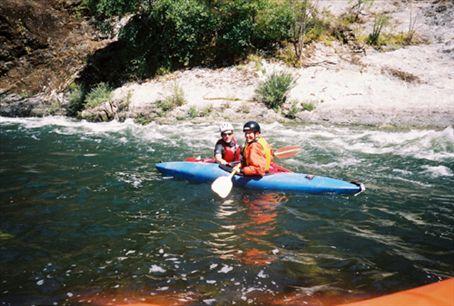 White water kayaking on the Rogue River, Oregon, USA