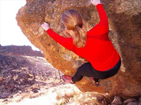 Bouldering at Smith´s Rock, Bend, Oregon, USA
