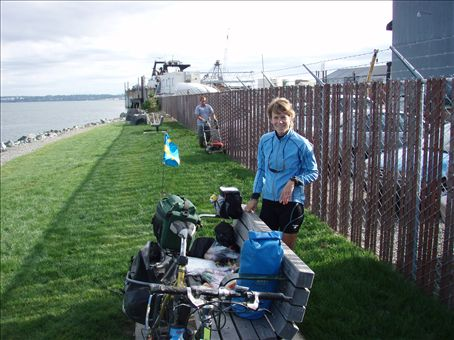 Early morning wake-up by a lawn mover in Bellingham!