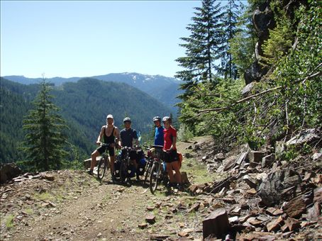 The French brothers and us on the KVR trail