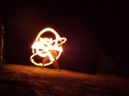 Fire show at the Silver Springs Lake