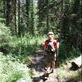 Hiking in the old growth forest in Yoho Nat. park Views[324]