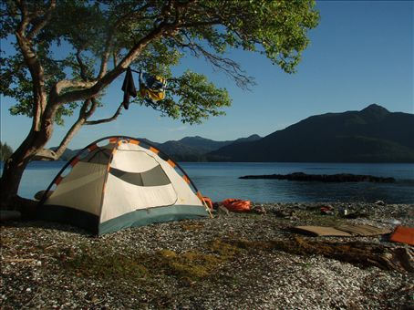 Our most beautiful campsite!