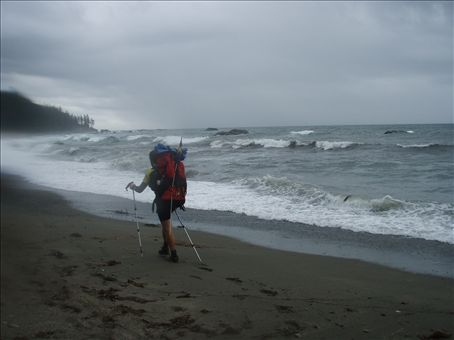 Kilometer after kilometer of sandy beach