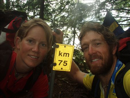 75 kilometers done! The end of the West Coast Trail