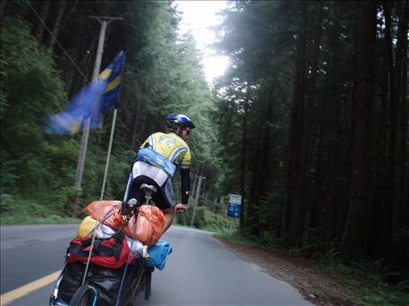 The home stretch! On the way in to Victoria, BC