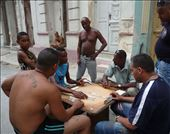A common sight of passionate men playing dominoes outside their cases.: by emma_hopkirk, Views[114]