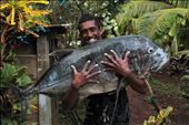Catch of the day, a 30.5kg GT. Used to feed the entire village at Sunday lunch.: by emmabeat_on, Views[307]
