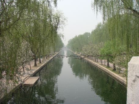 Canal north of Anzhen on the way to Olympic area