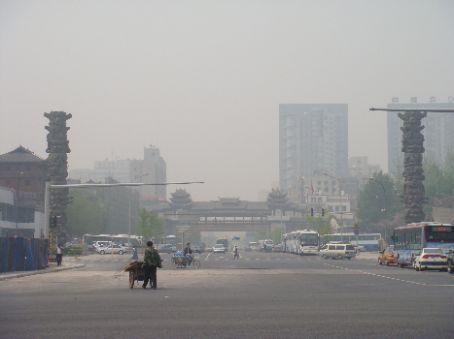 View down street to west