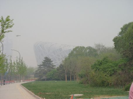 First view of National Stadium, or the