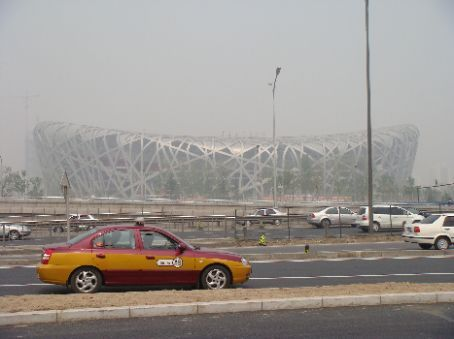 Bird's Nest, seen from south side of Fourth Ring Road