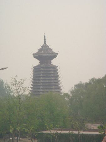 Better view of pagoda from bridge