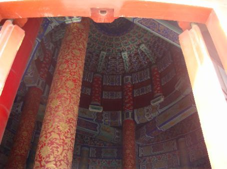 View of ceiling of Hall of Prayer for Good Harvests. I missed getting the dragon in the middle, though.