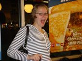 Barbara being chipper at Waffle House at 0430: by enanareina, Views[325]
